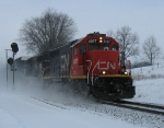 IC 6107 & 6034 racing east through the snow