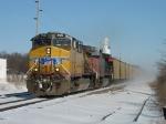 UP 5961 & 6331 lead a C711 empty coal train west
