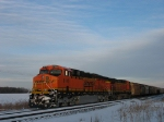 BNSF 6140 & 5602 waiting to continue west