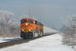 D801 rolling south through a frosty landscape