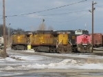 UP 6176, 7278 & 7219 sitting in the yard