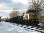 CSX 7750 leading empty coke train K351
