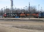 CN 5357 & BNSF 1100 at the fuel pad