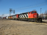 CN 5329, 5542 & UP 3586 heading east past the Amtrak station with M392