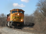 BNSF 9913 leading D803-18 up Saugatuck Hill