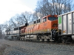 BNSF 5991 & 9746, D802, pushing hard on the rear of D803