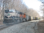 BNSF 9746 & 5991 pushing hard in a cloud of sand