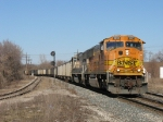 BNSF 9893 leading D801 towards the station for a crew change before heading to Chicago as E949