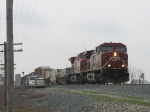 X500 rolling past maintainers at the east end of the siding