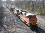 BNSF 9394 & 9599 leading Essexville loads east