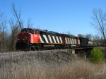 CN 5529 & 5545 charging west with M383