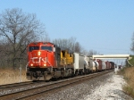 CN 5790 & UP 9200 pulling the front part of M399 out of the yard