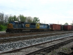 CSX 8727 & 8087 waiting to pull out of East Yard with Q290