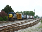 CSX 8361 waiting to head through Plymouth with Q327-10