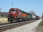 CP 5902 leading three BNSF units westward with 35T