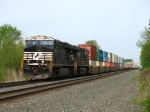 NS 7557 & 7567 racing east with 24Z
