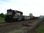 NS 7067 chugging west with work train 96R