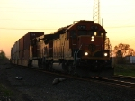 BNSF 6718 & 4617 wheeling 26N eastward out of the sunset