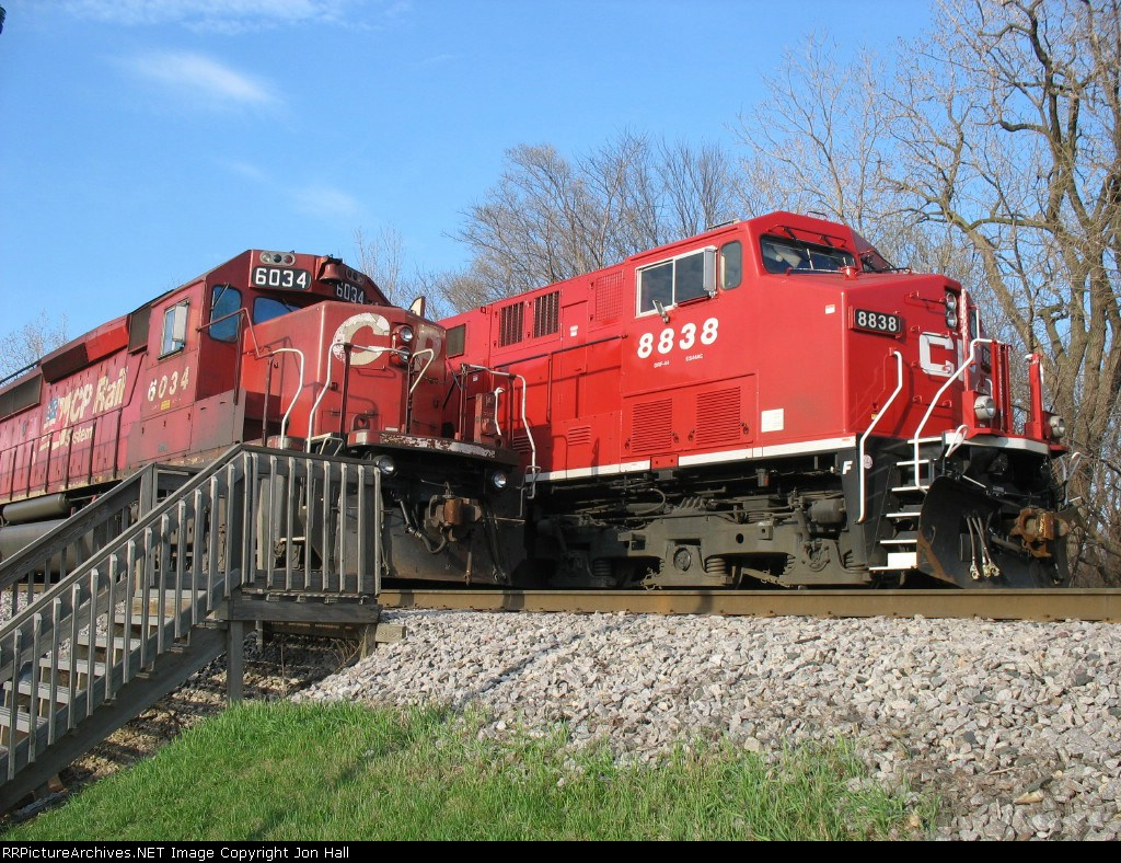 The old standard and the new standard; CP 6034 & 8838 sitting side by side
