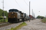 The birds scatter as CSX 5264 & 5371 lead their westbound by