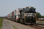NS 9809 leading double stacks eastward
