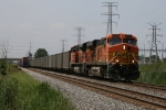 BNSF 5746 & 9354 rolling east on the point of N859