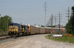 CSX 7795 & 8718 leading Q244 around the Harbor Lead Wye instead of the normal Southeast Wye