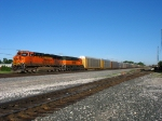 BNSF 7642 & 7146 waiting to go to Gibson Yard with a train of autoracks