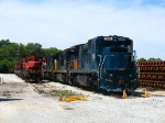 Three former SAR C39-8's in the company of retired CN GP9RM's