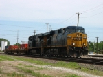 CSX 5214 & 5301 rolling down the Barr Yard through tracks with a westbound intermodal