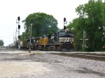 NS 8904 leading a northbound on the Villa Grove Sub