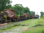 Three of the bottle cars following behind NS 3044
