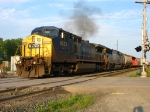CSX 9033 & 8738 throttling up with Q389