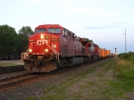 CP 8643 & 8544 rolling west at sunset with 25T