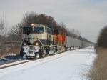 BN 9593 & BNSF 5745 leading E945 down the Grand Rapids Sub