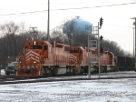 EJ&E 665, 675 & 656 rolling over the diamonds with coking coal loads off CP
