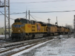 UP 8424, 7006, 7269 & 2171 rolling west on the IHB