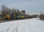 CSX 702, GCFX 3061, CSX 7324 & UP 2890 leading Q597 southward