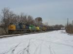 CSX 702, GCFX 3061, CSX 7324 & UP 2890 leading Q597 southward