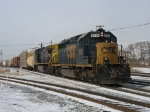 CSX 8110 & 7385 leading Q288 just out of Blue Island Yard
