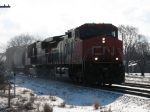 I couldn't get to the sunny side in time. CN 2616 & CN 5631