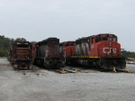 DMIR 209 sitting with CN 5243 & 5282 at the end of the deadline