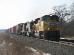 UP 8406, HLCX 6131 & UP 9214 head east with 14A