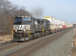 NS 9532 & 8854 leading westbound double stacks