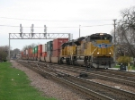UP 8403 & 3025 with a transfer from Global 3