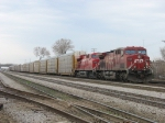 CP 9625 & 8793 waiting to go east with 240's autoracks