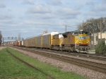 UP 8309 & 4230 rolling in with a long general freight