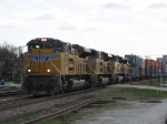 UP 8378, 8403, 8518 & 5223 leading stacks out of Global 2 west