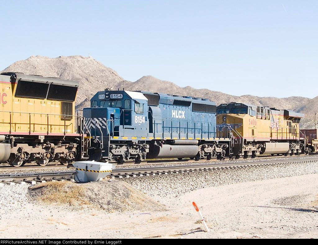 HLCX 8154 #2 in WB intermodal consist