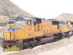 UP 4125 leads an EB intermodal at 12:59pm